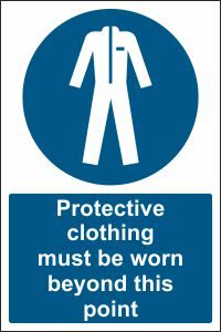 Protective Clothing must be Worn beyond this Point