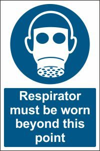 Respirator must be Worn beyond this Point