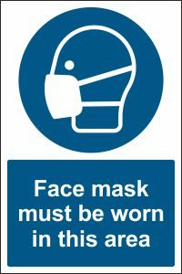 Face Mask must be Worn in this Area