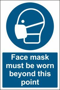 Face Mask must be Worn beyond this Point
