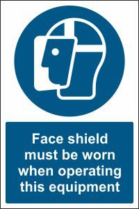 Face Shield when Operating this Equipment