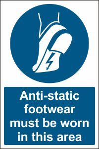 Anti-static Footwear must be Worn in this Area