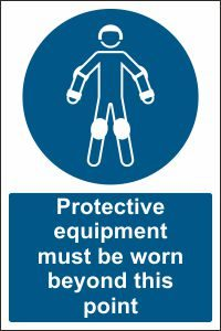Protective Equipment must be Worn beyond this Point
