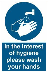 In the Interest of Hygiene Please Wash Your Hands