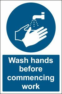 Wash Hands before Commencing Work