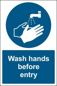Wash Hands before Entry
