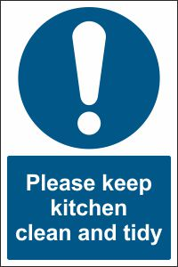 Please keep kitchen clean and tidy sign buy online for How to keep the kitchen clean