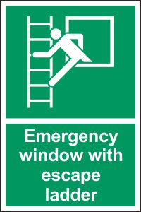 Emergency Window with Escape Ladder