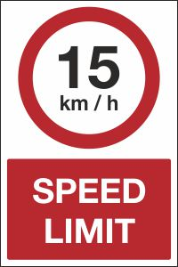 15kmh Speed Limit