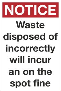 Waste Disposed of Incorrectly