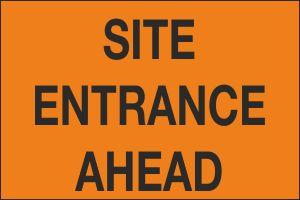 Site Entrance Ahead