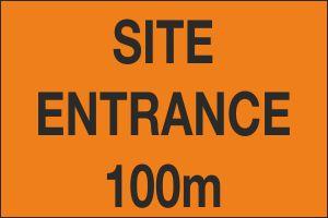 Site Entrance 100m
