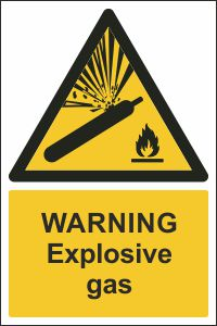 Warning - Explosive Gas