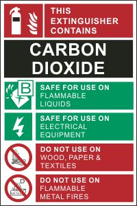 Fire Extinguisher Tag - Carbon Dioxide