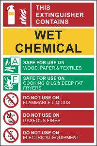Fire Extinguisher Tag - Wet Chemical