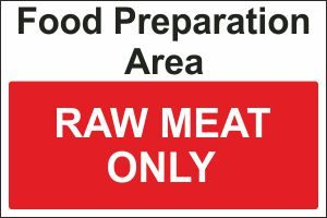 Food Preparation Area - Raw Meat Only