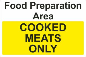 Food Preparation Area - Cooked Meats Only