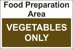 Food Preparation Area - Vegetables Only
