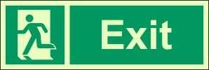 photoluminescent exit