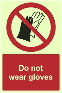 Photoluminescent - Do Not Wear Gloves