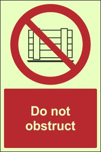 Photoluminescent - Do Not Obstruct