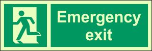 Photoluminescent Emergency Exit