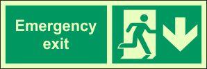 Photoluminescent - Emergency Exit - S