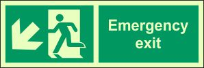 Photoluminescent- Emergency Exit - SW