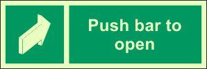 Photoluminescent - Push Bar to Open