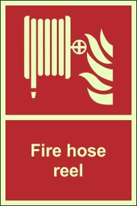 Photoluminescent - Fire Hose Reel