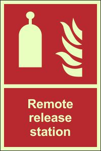 Photoluminescent Remote Release Station