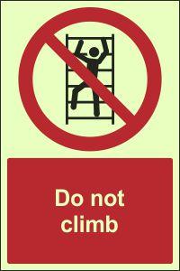 Photoluminescent- Do Not Climb