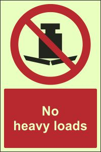 Photoluminescent - No Heavy Loads