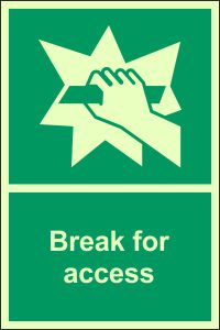 Photoluminescent - Break for Access