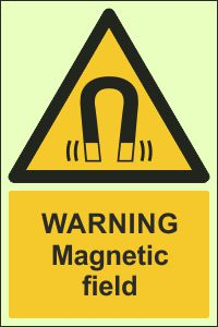 Photoluminescent - Warning, Magnetic Field