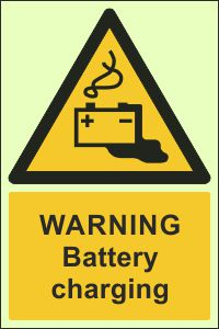 Photoluminescent - Warning, Battery Charging