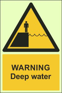 Photoluminescent - Warning, Deep Water
