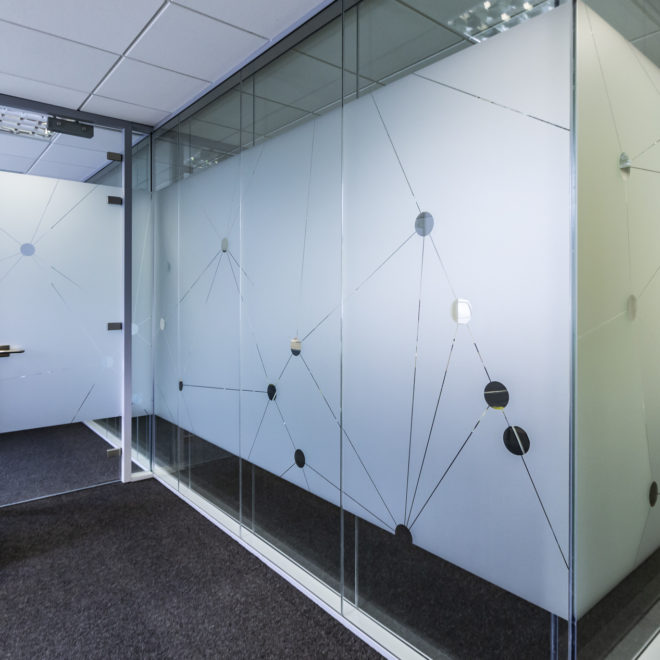 window and glass graphics - frosted glass vinyl - 2