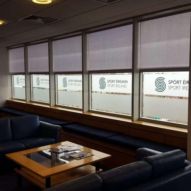 window and glass graphics - sport ireland