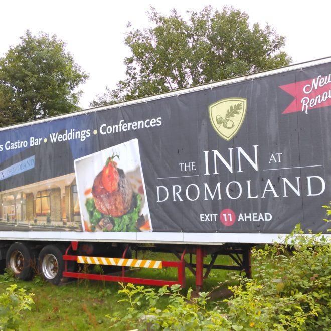 banners and hoarding - banner - dromoland