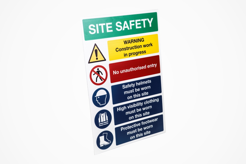 construction site safety signs - site safety notice