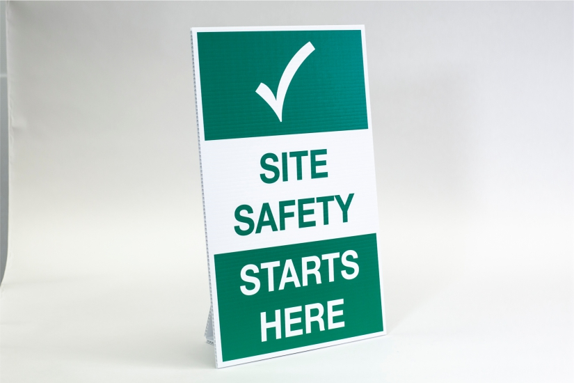 construction site safety signs - site safety starts here