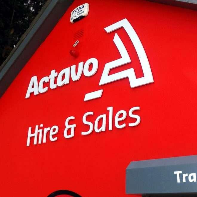 external 3d lettering - actavo