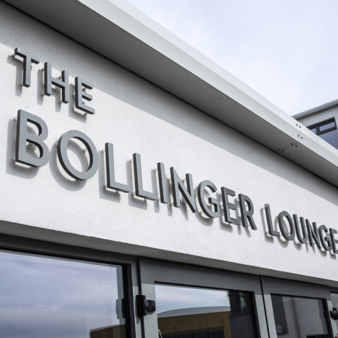 external 3d lettering - the bollinger lounge