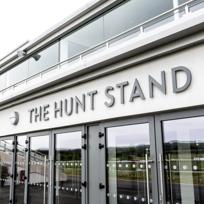 external 3d lettering - the hunt stand - 2