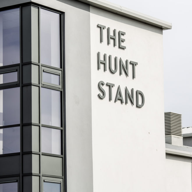 external 3d lettering - the hunt stand
