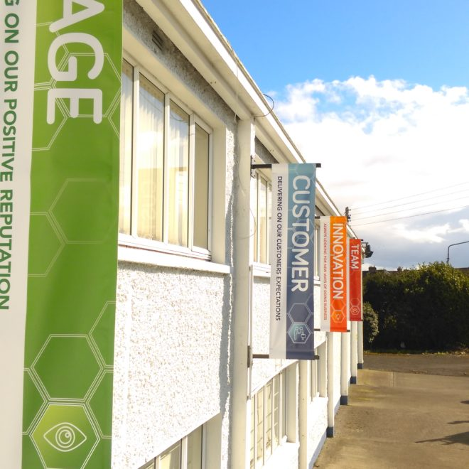 external projecting signs - banners