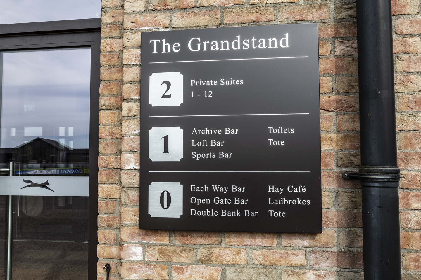 external wall-mounted - the grandstand