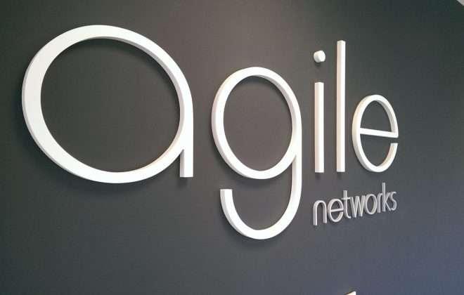 internal 3d lettering - agile networks