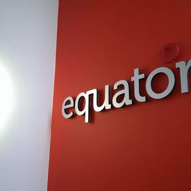internal 3d lettering - equator